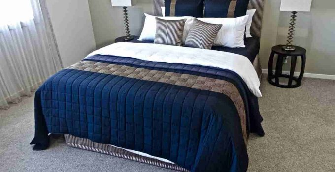 Blue Color Bed Sheet To Hide Stains