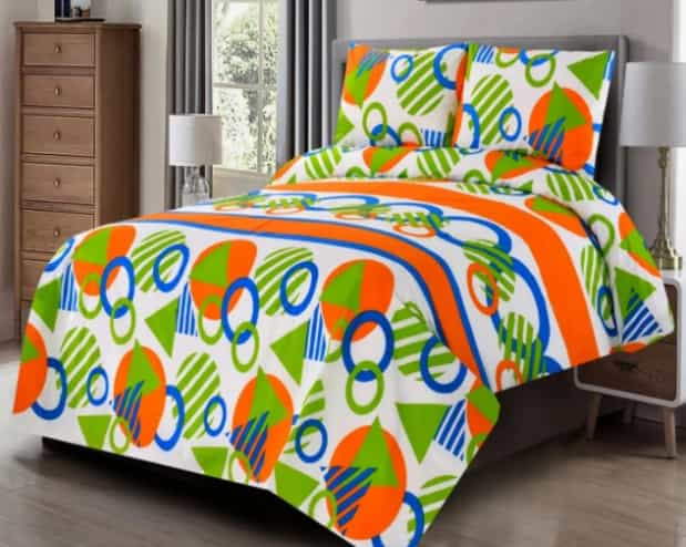 Multi Color Bright Bed-Sheet For Summer