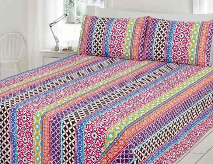 Cool Pink Color Bed Sheet for Summer