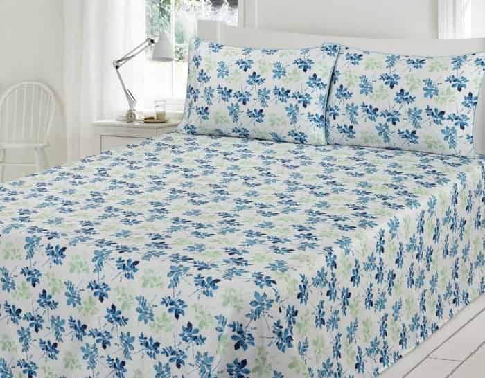 Icy Cool Blue Color Bed Sheet for Summer
