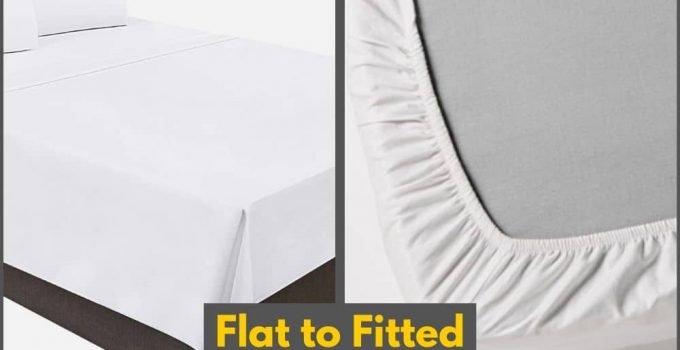 Convert Flat Bed Sheet into Fitted Bed Sheet