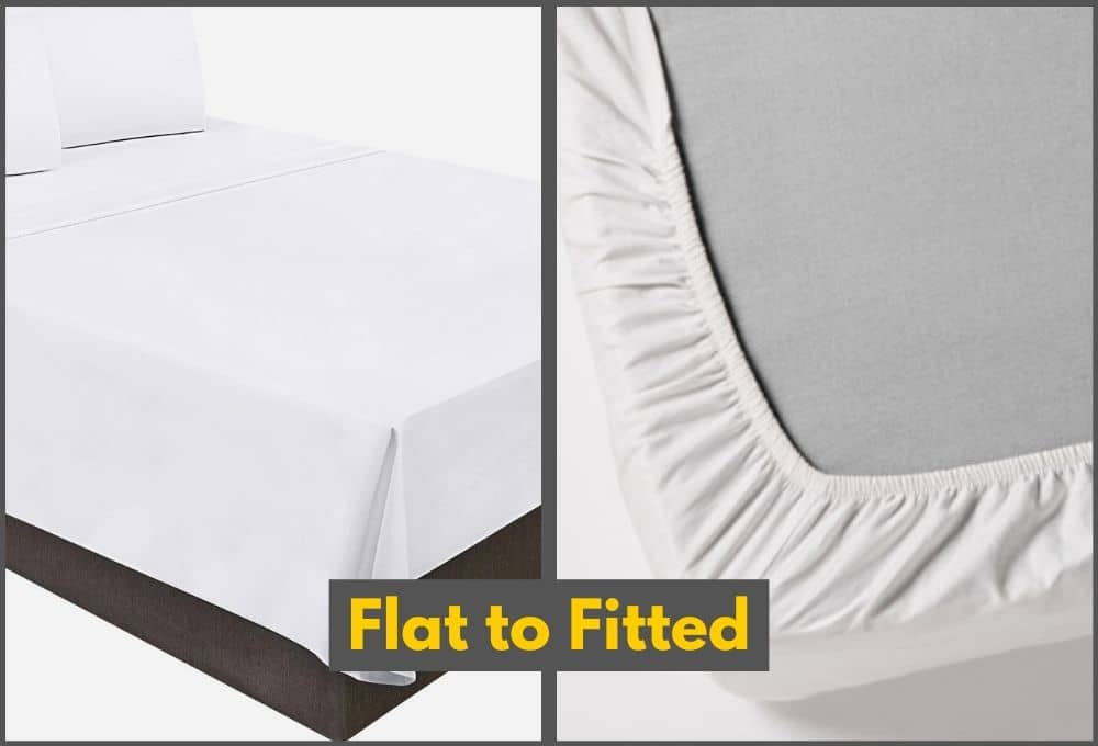 How To Convert Flat Bed Sheet Into Fitted Bed Sheet