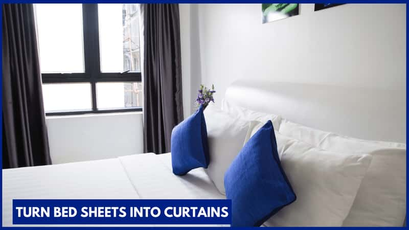Turn Bed Sheets into Curtains